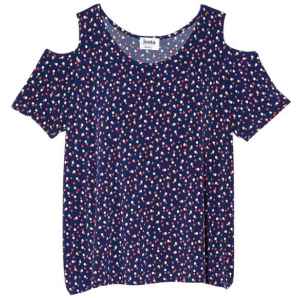 Leota Tops - Leota Annalisa Cold Shoulder Tunic Top 3X Dots